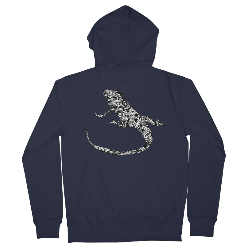 IGUANA Women's French Terry Zip-Up Hoody by designsbydana's Artist Shop
