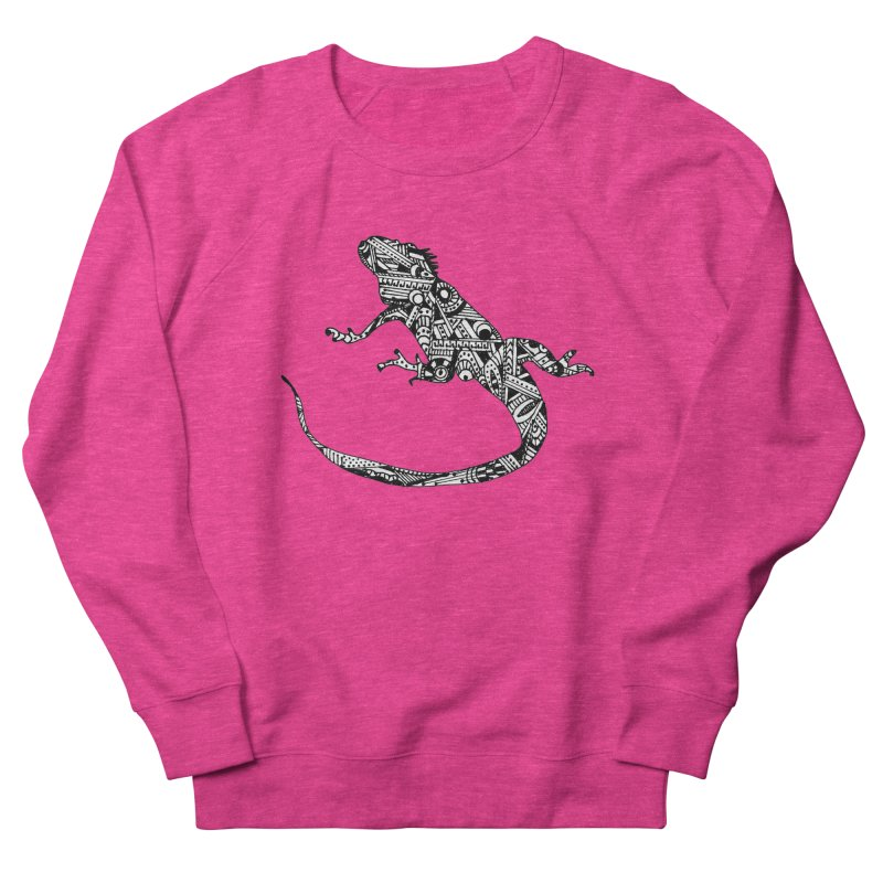 IGUANA Men's French Terry Sweatshirt by designsbydana's Artist Shop