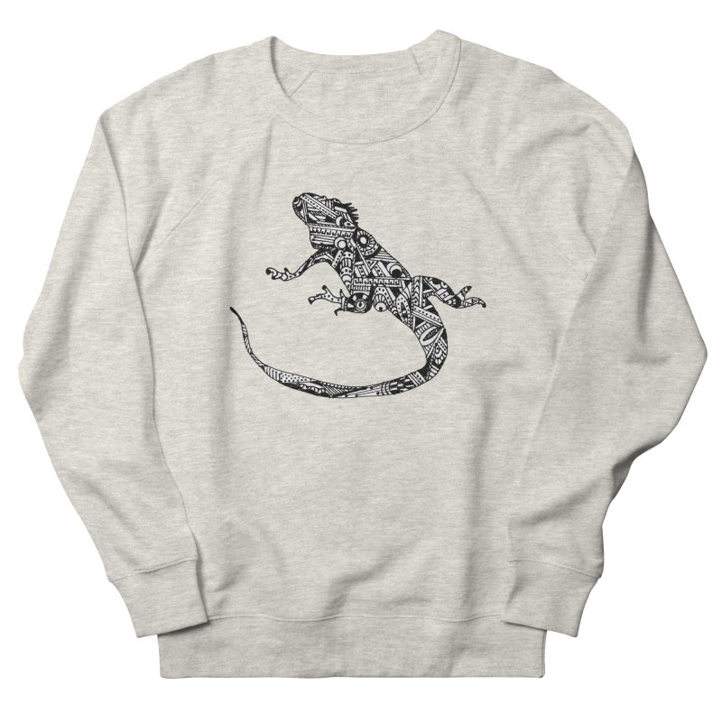 IGUANA Men's French Terry Sweatshirt by designsbydana's Artist Shop