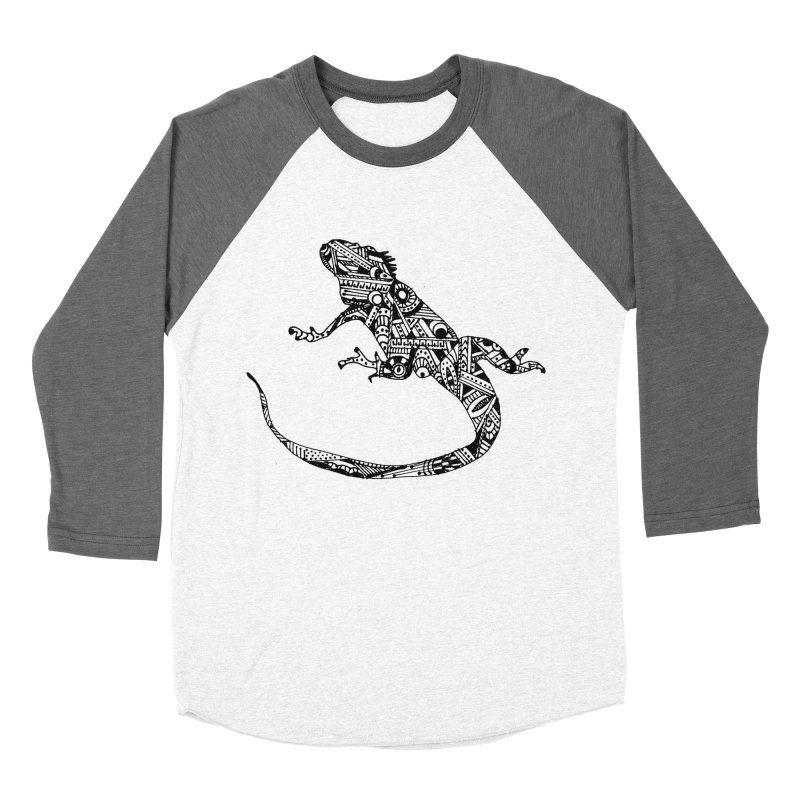 IGUANA Men's Baseball Triblend Longsleeve T-Shirt by designsbydana's Artist Shop