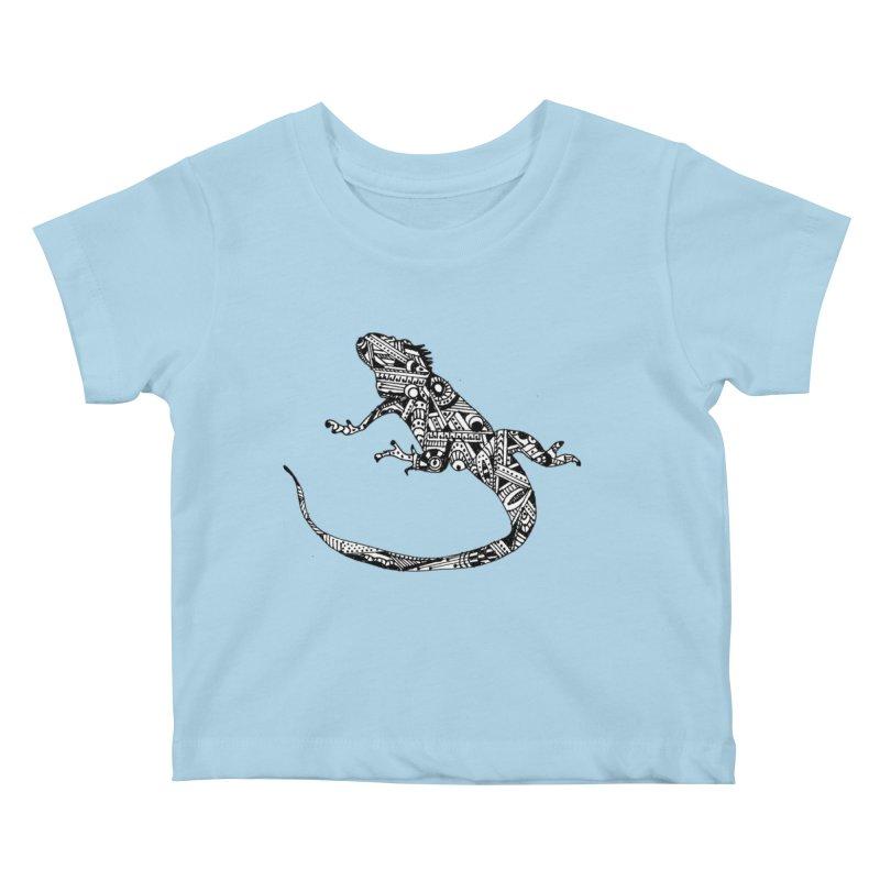 IGUANA Kids Baby T-Shirt by designsbydana's Artist Shop