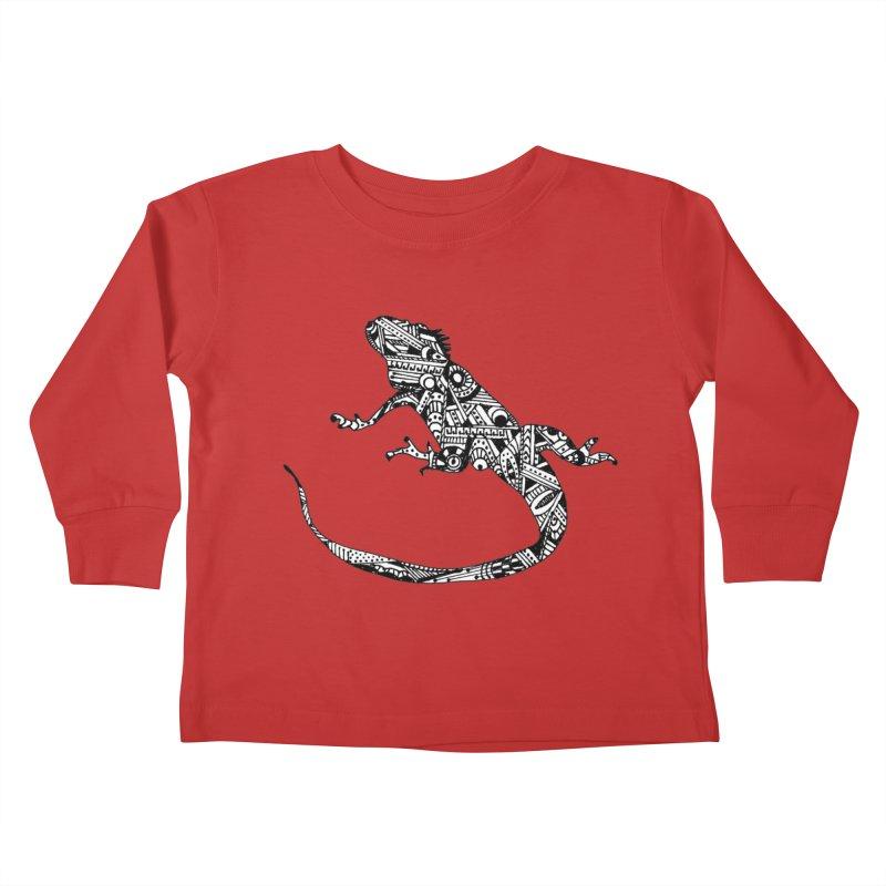 IGUANA Kids Toddler Longsleeve T-Shirt by designsbydana's Artist Shop