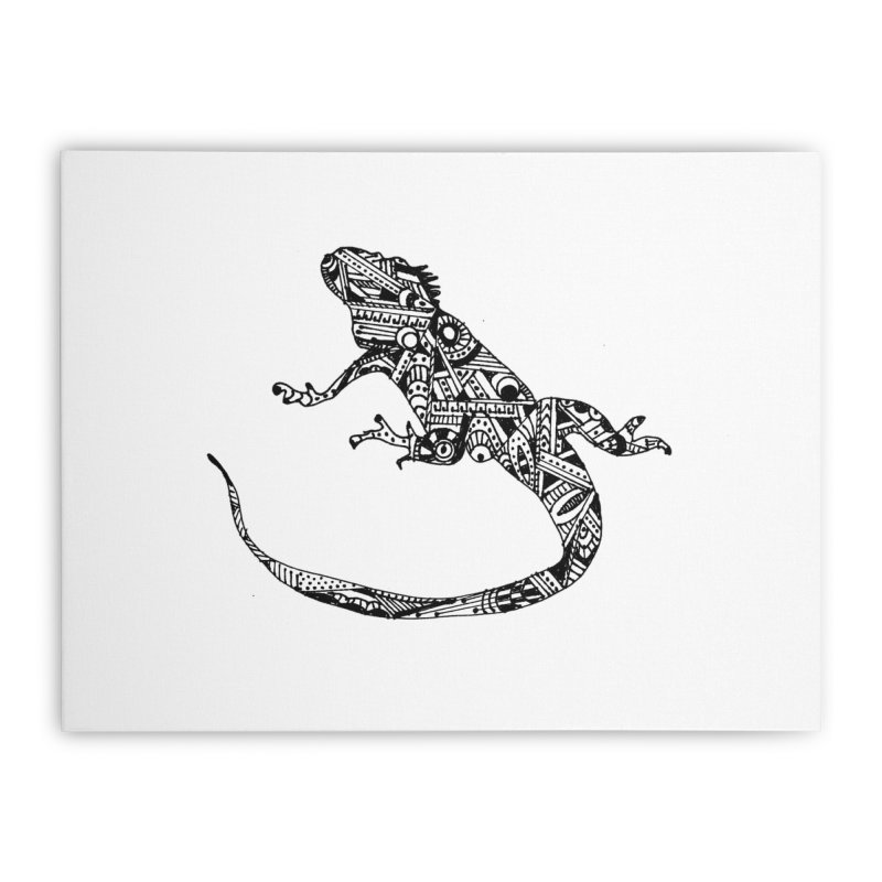 IGUANA Home Stretched Canvas by designsbydana's Artist Shop