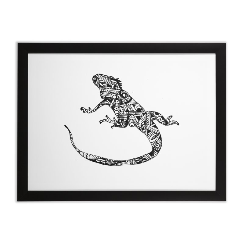 IGUANA Home Framed Fine Art Print by designsbydana's Artist Shop