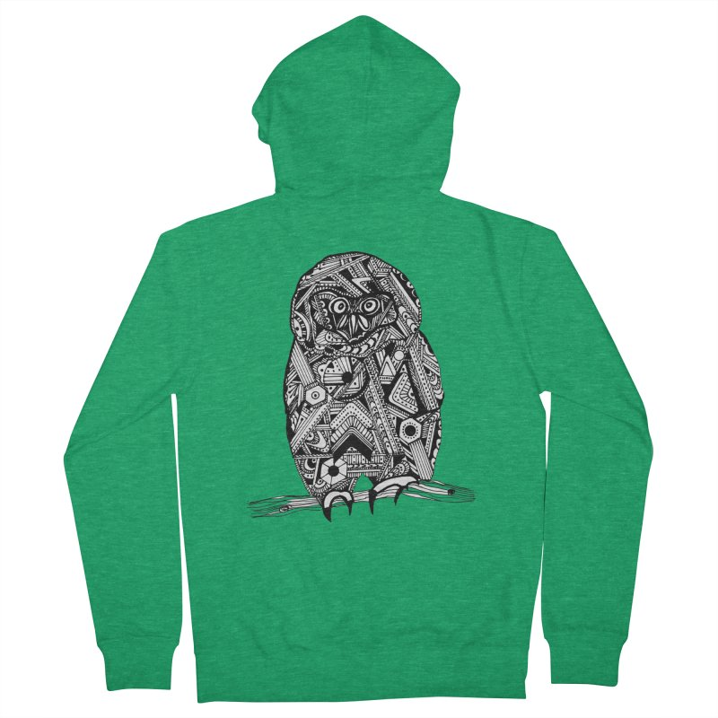SPECTACLED OWL Men's Zip-Up Hoody by designsbydana's Artist Shop