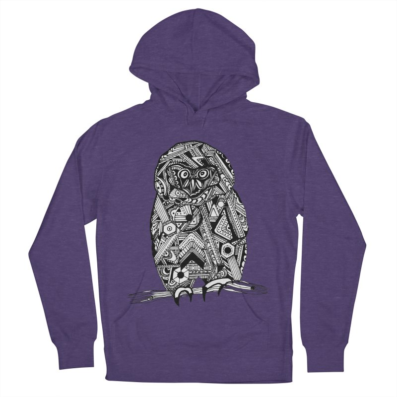 SPECTACLED OWL Women's French Terry Pullover Hoody by designsbydana's Artist Shop