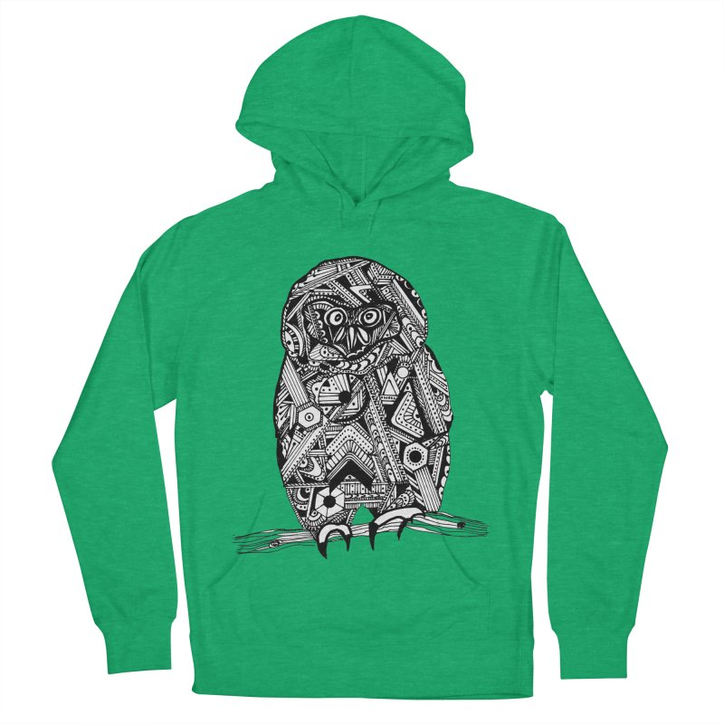 SPECTACLED OWL Men's French Terry Pullover Hoody by designsbydana's Artist Shop