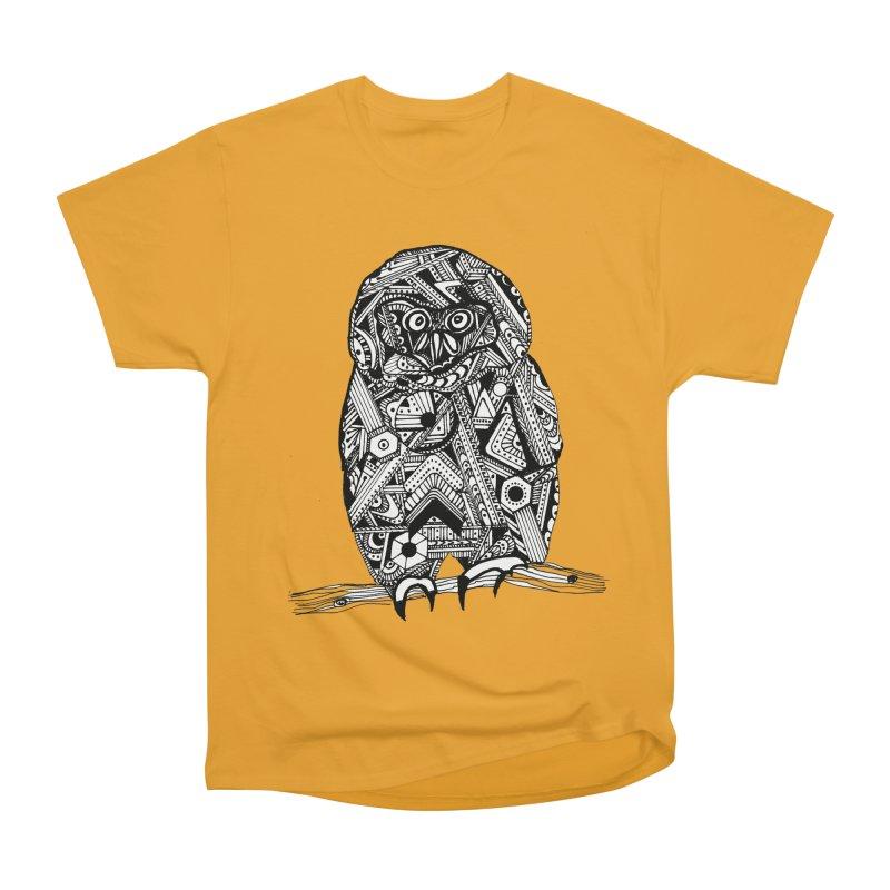 SPECTACLED OWL Men's Heavyweight T-Shirt by designsbydana's Artist Shop