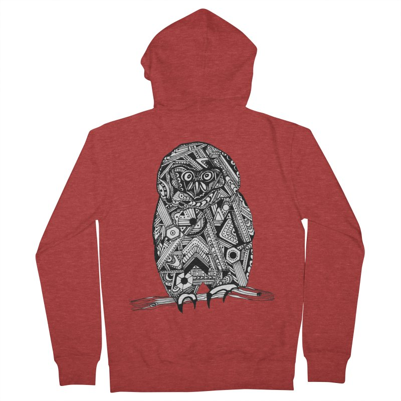 SPECTACLED OWL Men's French Terry Zip-Up Hoody by designsbydana's Artist Shop