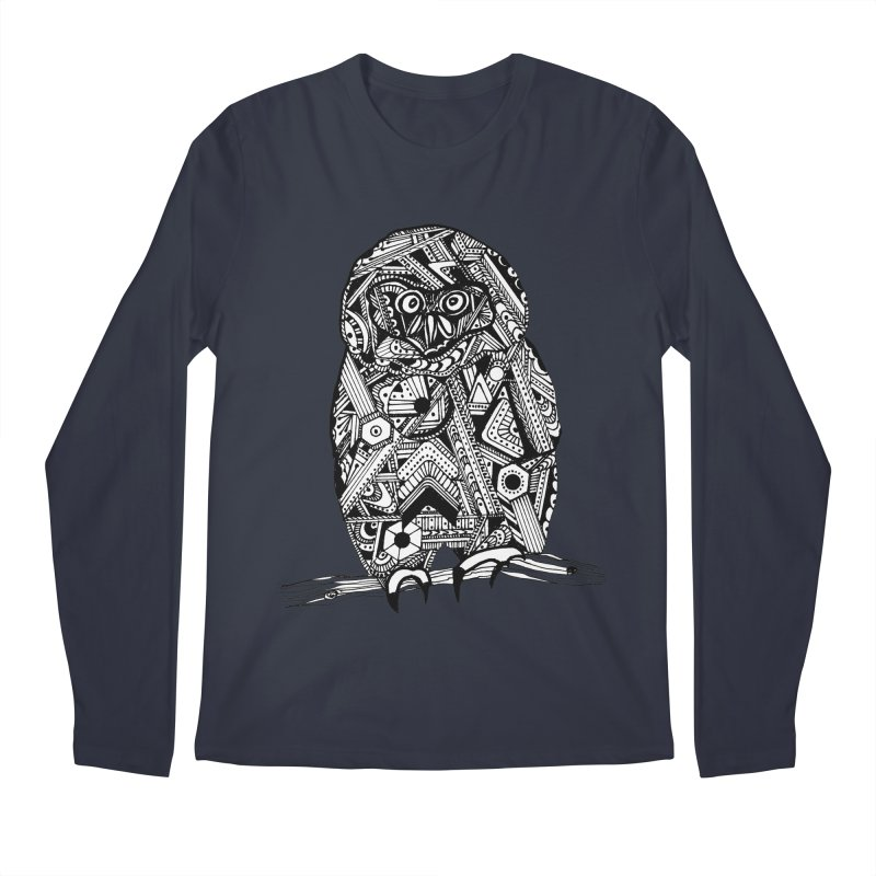 SPECTACLED OWL Men's Regular Longsleeve T-Shirt by designsbydana's Artist Shop
