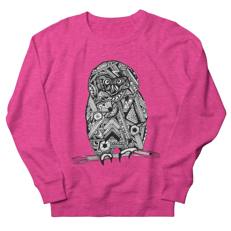 SPECTACLED OWL Men's French Terry Sweatshirt by designsbydana's Artist Shop
