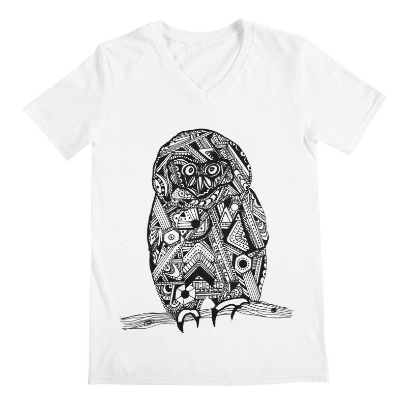 SPECTACLED OWL Men's Regular V-Neck by designsbydana's Artist Shop