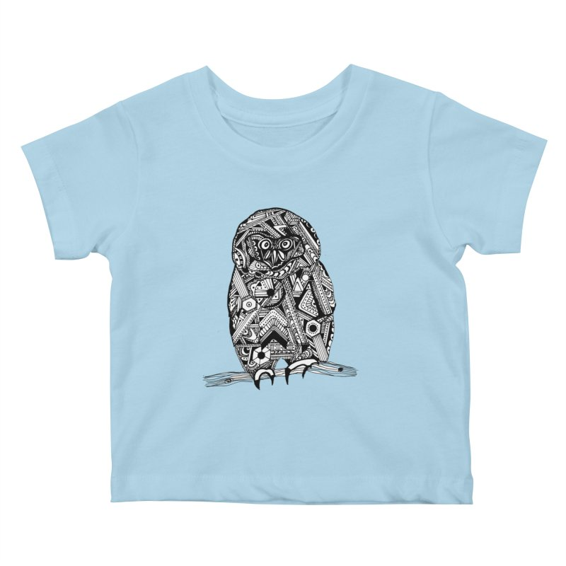 SPECTACLED OWL Kids Baby T-Shirt by designsbydana's Artist Shop