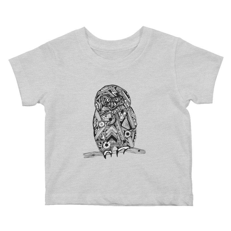 SPECTACLED OWL Kids Baby T-Shirt by designsbydana's Artist Shop
