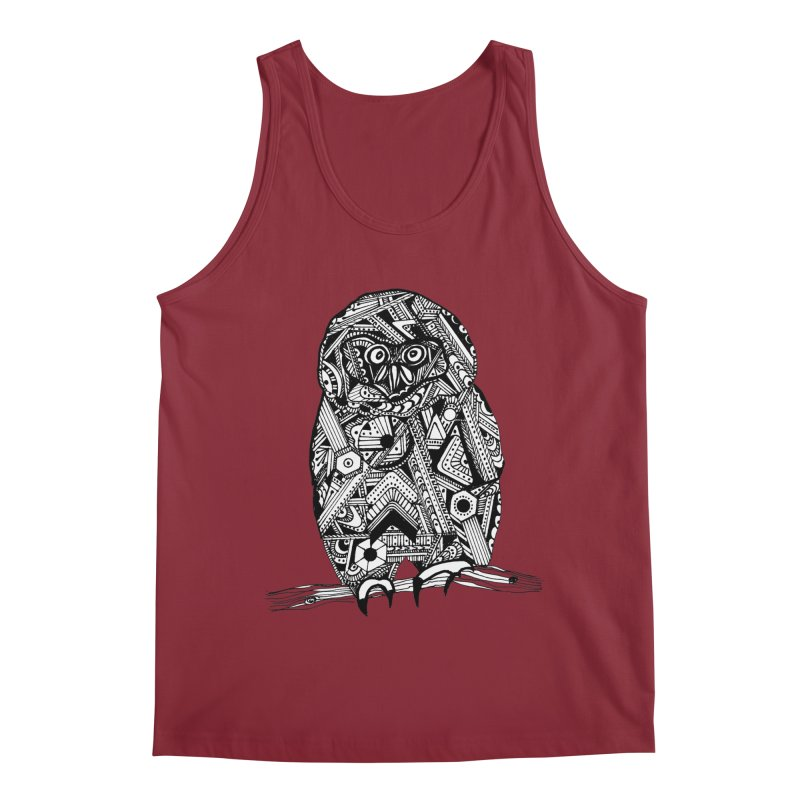 SPECTACLED OWL Men's Tank by designsbydana's Artist Shop