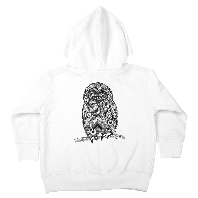 SPECTACLED OWL Kids Toddler Zip-Up Hoody by designsbydana's Artist Shop