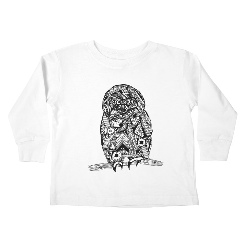 SPECTACLED OWL Kids Toddler Longsleeve T-Shirt by designsbydana's Artist Shop