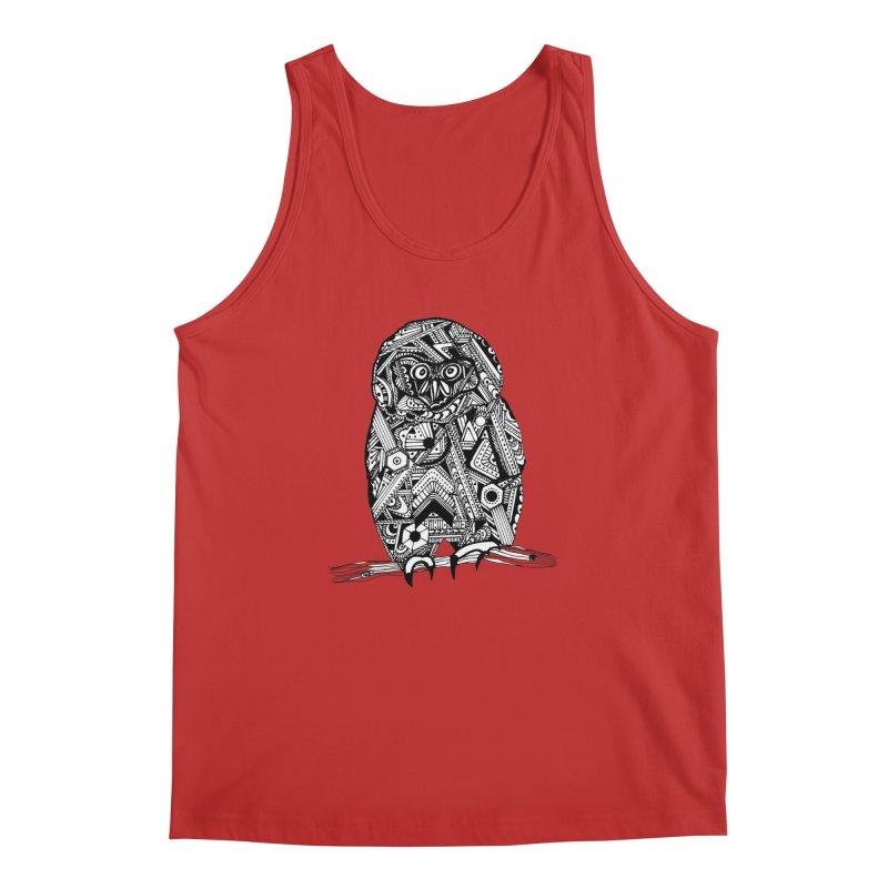 SPECTACLED OWL Men's Regular Tank by designsbydana's Artist Shop