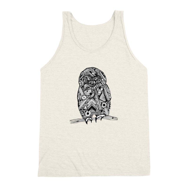 SPECTACLED OWL Men's Triblend Tank by designsbydana's Artist Shop