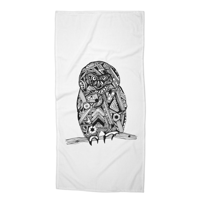 SPECTACLED OWL Accessories Beach Towel by designsbydana's Artist Shop
