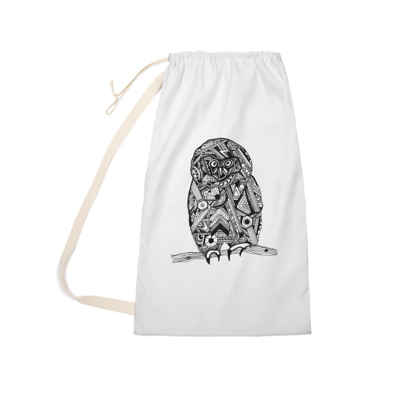 SPECTACLED OWL Accessories Laundry Bag Bag by designsbydana's Artist Shop