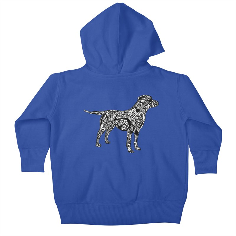 LABRADOR Kids Baby Zip-Up Hoody by designsbydana's Artist Shop