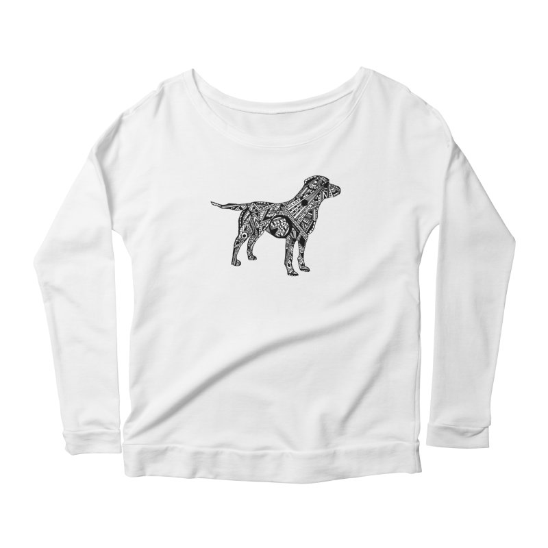 LABRADOR Women's Scoop Neck Longsleeve T-Shirt by designsbydana's Artist Shop
