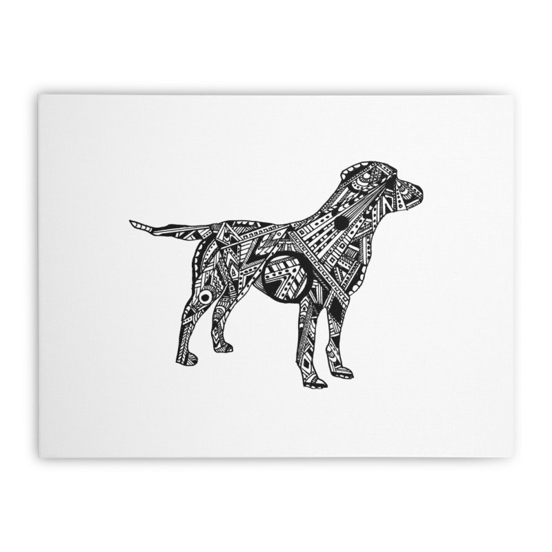 LABRADOR Home Stretched Canvas by designsbydana's Artist Shop