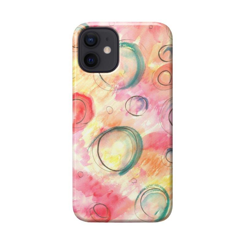 PINK CIRCLES Accessories Phone Case by designsbydana's Artist Shop