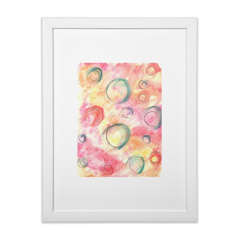 PINK CIRCLES Home Framed Fine Art Print by designsbydana's Artist Shop