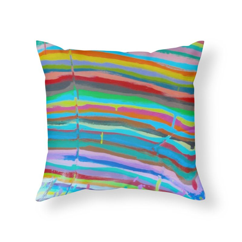 BRITE STRIPES Home Throw Pillow by designsbydana's Artist Shop