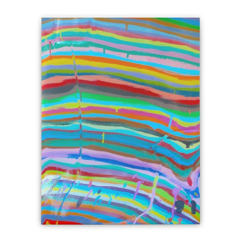 BRITE STRIPES Home Stretched Canvas by designsbydana's Artist Shop
