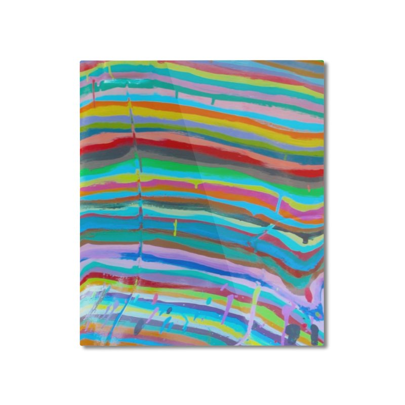 BRITE STRIPES Home Mounted Aluminum Print by designsbydana's Artist Shop