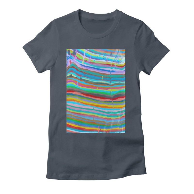 BRITE STRIPES Women's T-Shirt by designsbydana's Artist Shop
