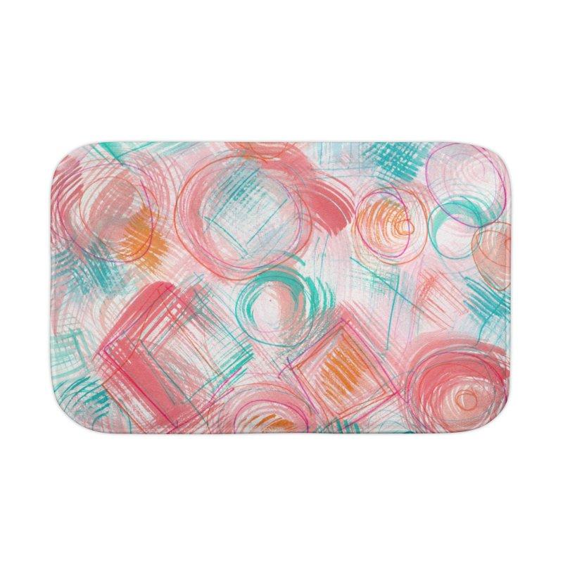 BRUSH CIRCLES Home Bath Mat by designsbydana's Artist Shop