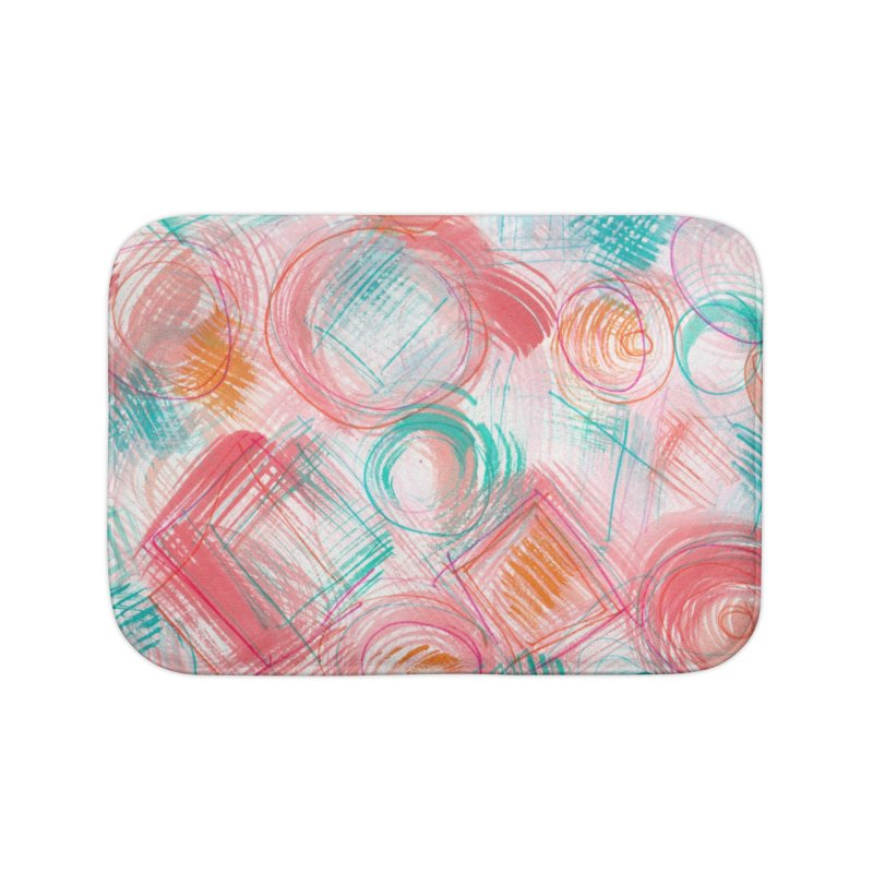 BRUSH CIRCLES Home Bath Mat by designsbydana's Artist Shop