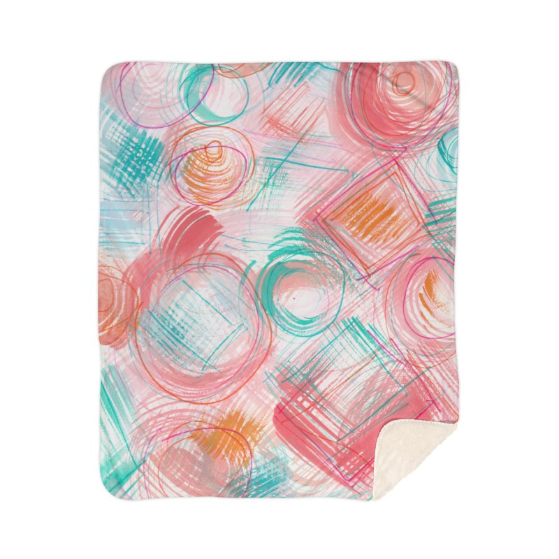 BRUSH CIRCLES Home Blanket by designsbydana's Artist Shop