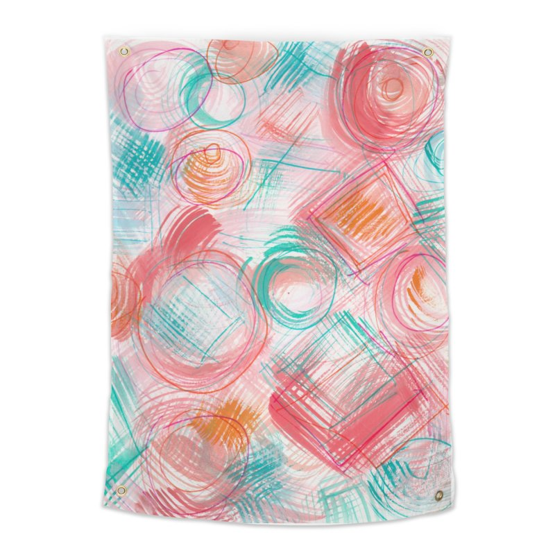 BRUSH CIRCLES Home Tapestry by designsbydana's Artist Shop