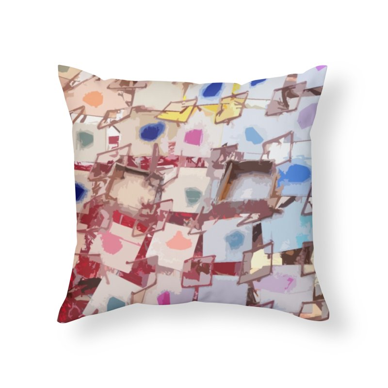 PATCHES Home Throw Pillow by designsbydana's Artist Shop