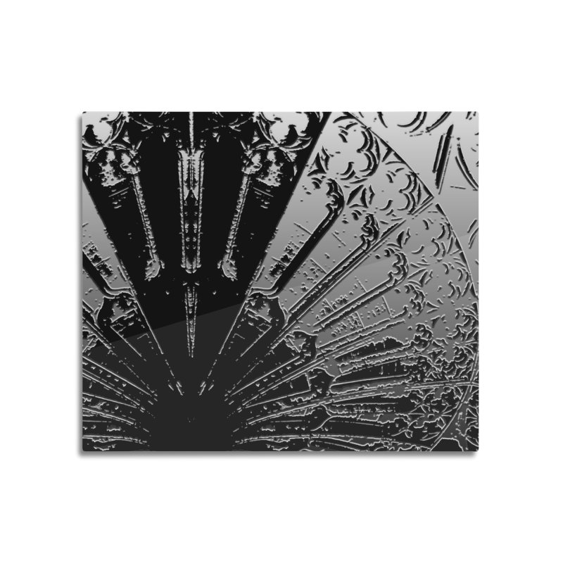BLACK DECO Home Mounted Aluminum Print by designsbydana's Artist Shop