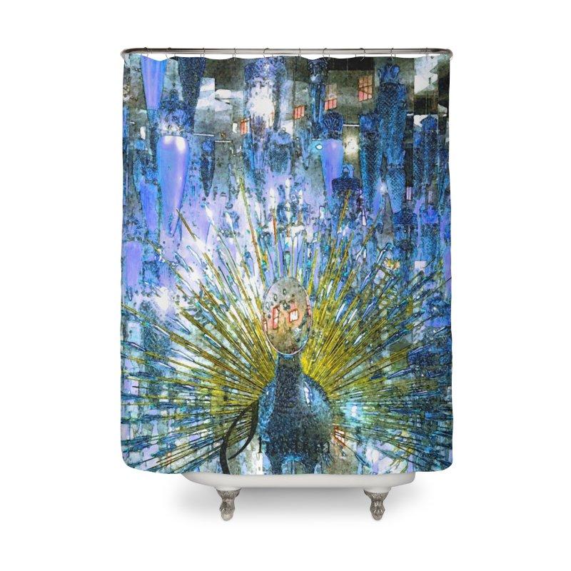 MOD PEACOCK Home Shower Curtain by designsbydana's Artist Shop
