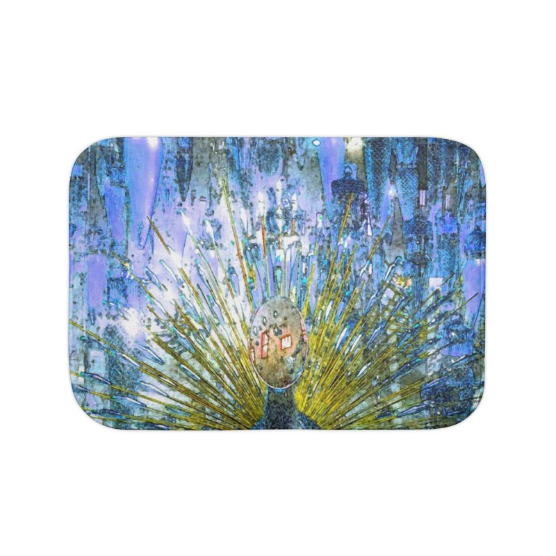MOD PEACOCK Home Bath Mat by designsbydana's Artist Shop