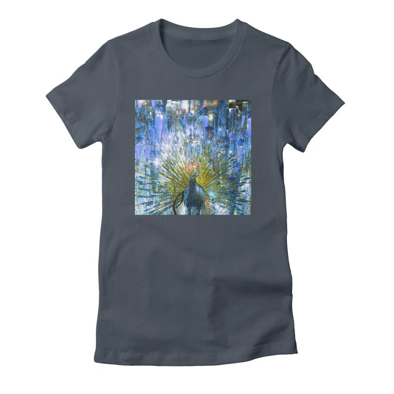 MOD PEACOCK Women's T-Shirt by designsbydana's Artist Shop