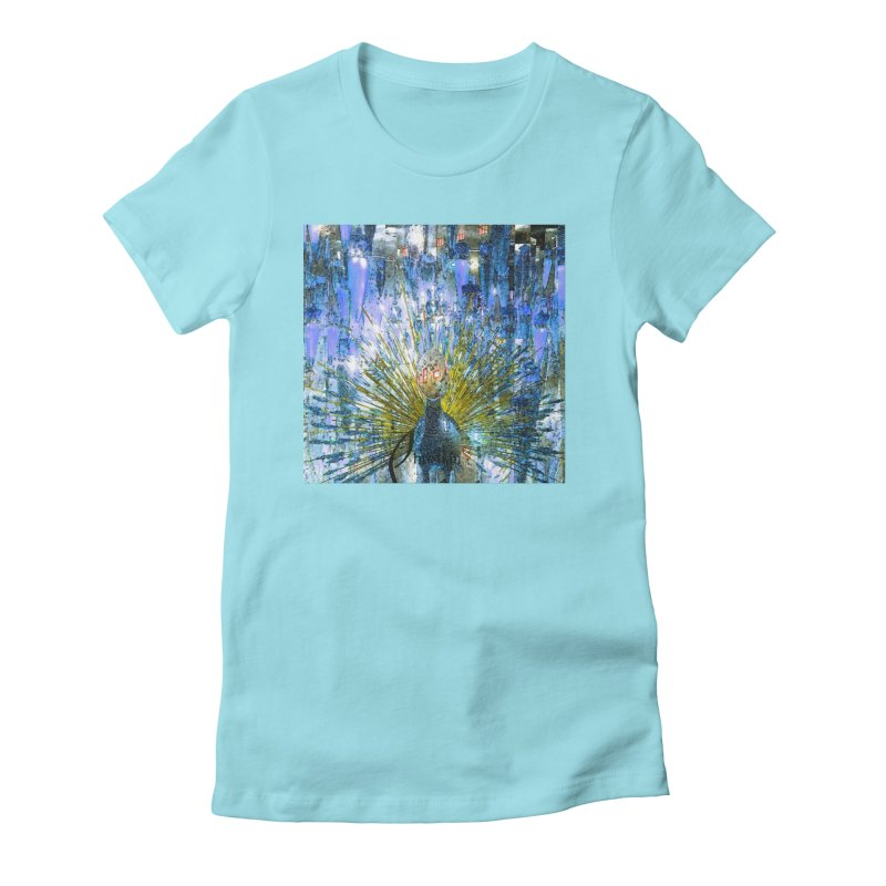 MOD PEACOCK Women's T-Shirt by designsbydana's Artist Shop