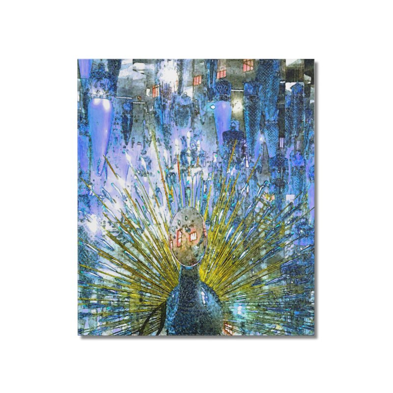 MOD PEACOCK Home Mounted Acrylic Print by designsbydana's Artist Shop