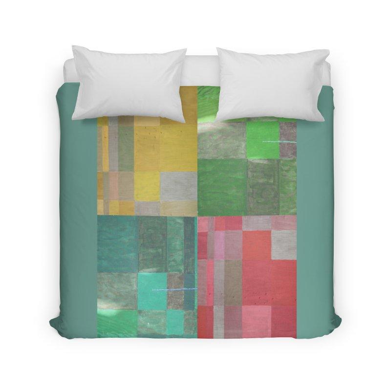 BRIGHT BLOCKS Home Duvet by designsbydana's Artist Shop