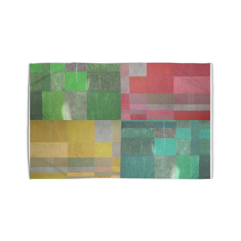 BRIGHT BLOCKS Home Rug by designsbydana's Artist Shop