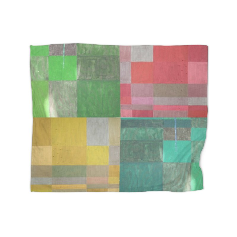 BRIGHT BLOCKS Home Fleece Blanket Blanket by designsbydana's Artist Shop
