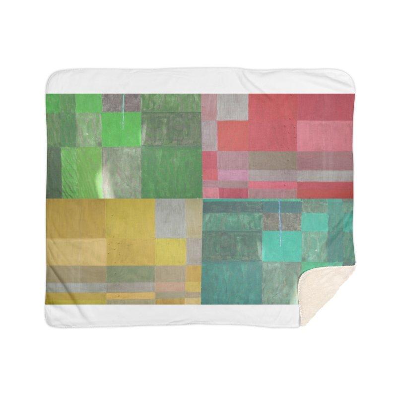 BRIGHT BLOCKS Home Sherpa Blanket Blanket by designsbydana's Artist Shop