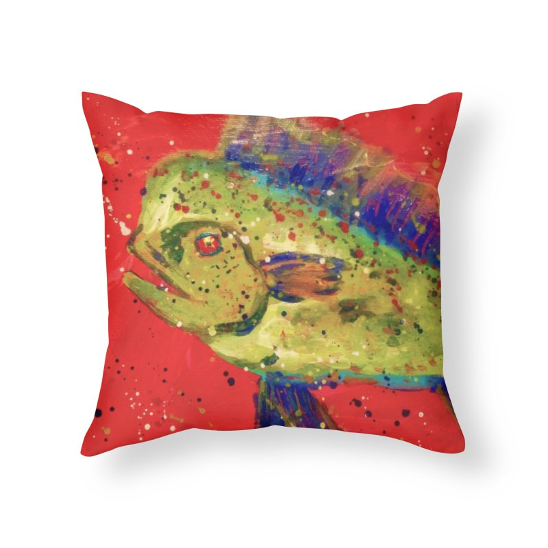MAHI MAHI Home Throw Pillow by designsbydana's Artist Shop